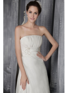 Ivory Strapless Simple Elegant Bridal Gowns 2649