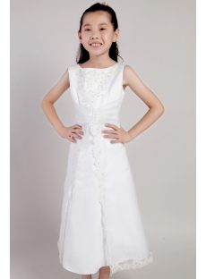 Ivory Tea Length Toddler Mini Bridal Dress 2155