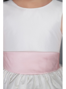 Ivory and Pink Party Wear for Kids Girls 2801