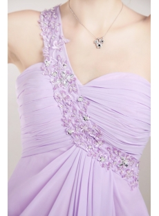 Lavender Chiffon Romantic Celebrity Dress with T Back
