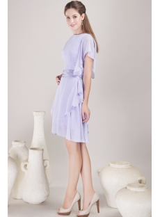 Lavender Modest Chiffon Mother of Bride Dress