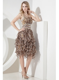 Leopard Sexy Sweet 15 Dress for Summer
