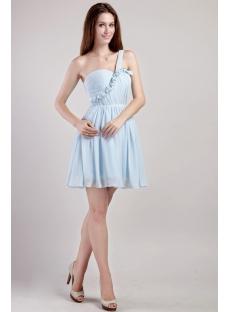 Light Blue Junior Prom Dresses Short Cheap 2291