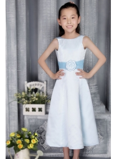 Light Blue and Turquoise Cheap Flower Gown 2767