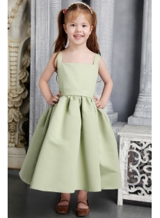Lovely Green Flower Girl Dress 2463