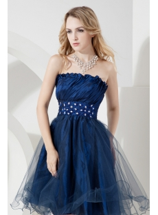 Lovely Navy Blue Short Graduation Dresses
