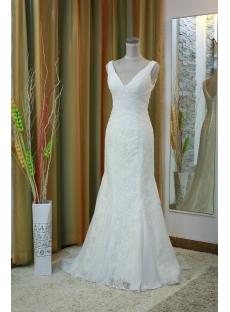Mermaid / Trumpet Strapless Sweetheart Natural Waist Satin Lace Wedding Dress 4977