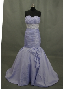 Mermaid Sweep Taffeta Prom Dress With Ruffle Beading Sequins 03219