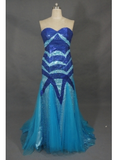 Mermaid Sweetheart Floor-Length Satin Tulle Prom Dress With Beading 02021
