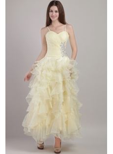 Modest Ankle Length Short Quinceanera Gown 2031