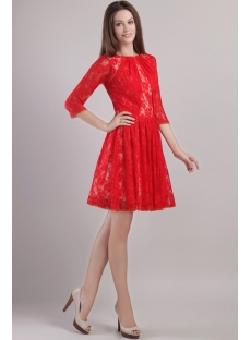 Red Cocktail Dresses With Sleeves - Long Dresses Online