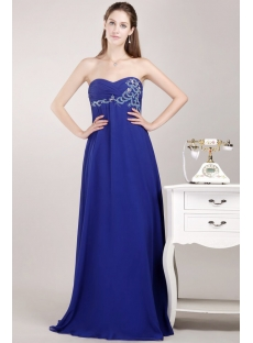 Navy Chiffon Pregnancy Prom Dress for Plus Size Women