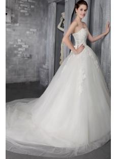 Off White 2014 Spring Cinderella Bridal Gown 2572