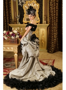One-Shoulder Floor-Length Satin Prom Dress With Ruffle Beading