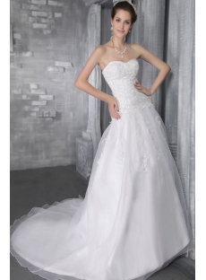 Organza Beautiful Sweetheart Bridal Gowns 2779