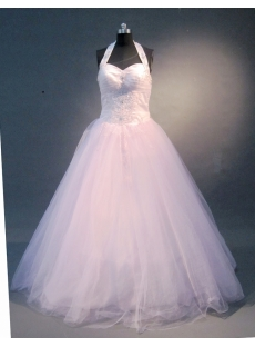 Pink A-Line Ball Gown Satin Tulle Quinceanera Dress 1660