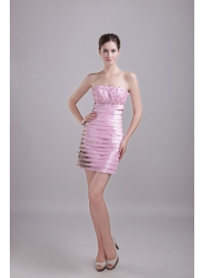 Pink Graduation Dress with Leopard 1243