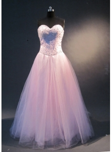 Pink Halter Sleeveless Satin Tulle Quinceanera Dress 1849