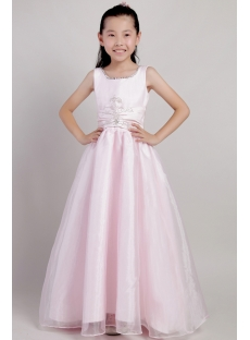 Pink Long Infant Flower Girl Dresses 2114