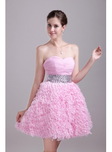 Pink Sweetheart Short Quinceanera Dress 1259