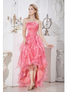 Pretty High-low Hem Graduation Dress