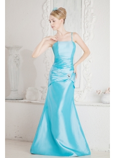 Pretty Long Turquoise 2011 Prom Dresses