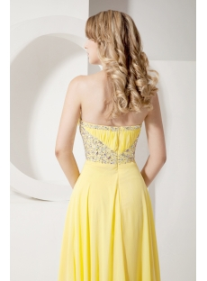 Pretty Long Yellow 2013 Evening Dress with Beading