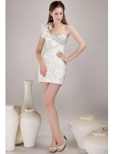 Pretty Mini Inexpensive Homecoming Dresses with One Shoulder