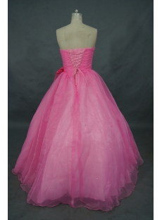 Princess Strapless Floor-Length Organza Cheap Quinceanera Dress 01503