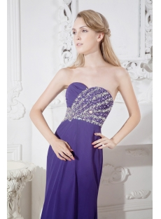 Purple Chic Empire Formal Evening Gown