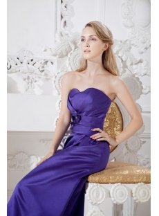 Purple Elegant Long Bridesmaid Dress Discount