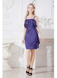 Purple Spaghetti Straps Short of Groom Dresses