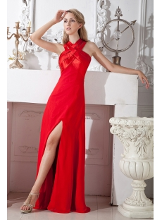 Red Criss-Cross Back Evening Dresses for Party