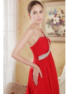 Red High-low Beach Informal Wedding Dress