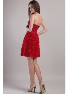 Red Short Floral Cocktail Dress Sale 2232
