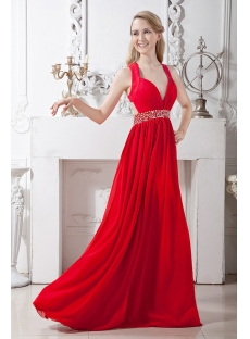 Red Summer Sexy Evening Dress with Criss-cross Straps