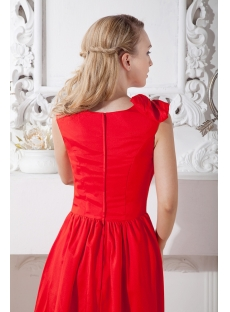 Red Tea Length Formal Homecoming Dress under 100