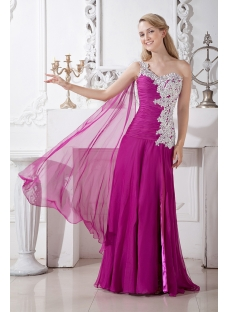 Romantic Fuchsia Celebrity Dress with Sash