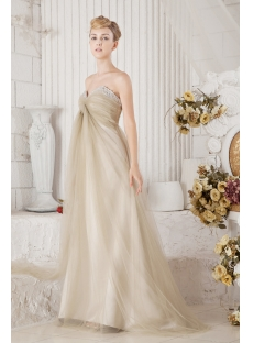 Romantic Maternity Bridal Gown for Plus Size