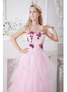 Romantic Pink Quinceanera Gown with Sweetheart