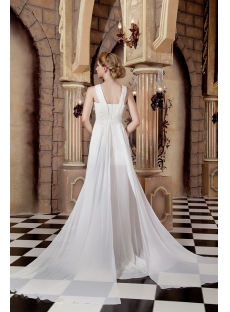 Romantic Spring Beach Wedding Dress with Slit Front