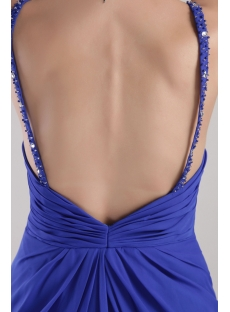 Royal Backless Celebrity Evening Dress with Spaghetti Straps 2324