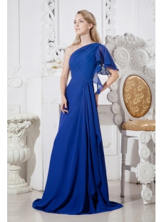 Royal Long One Shoulder Evening Dresses for Women