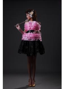 Sheath / Column Strapless Sweetheart Short / Mini Satin Organza Sweet 16 Dress 2228-2