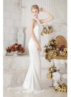 Sheath Halter Informal Wedding Dress for Beach