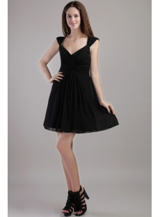 Short Chiffon Little Black Party Dresses for Juniors 2265