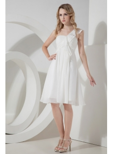 Short Chiffon Maternity Prom Dress with One Shoulder
