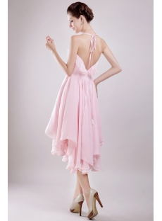 Short Pink Wedding Dresses for the Beach with Backless