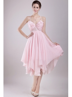 Short Pink Wedding Dresses For The Beach With Backless 1st