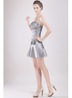 Silver Mini Graduation Party Gown for Kids